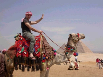 Keith on a camel